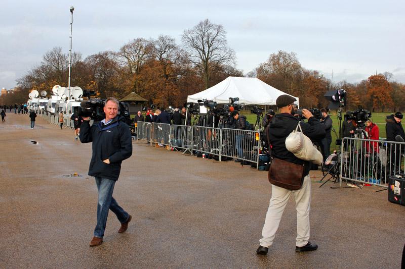 Media people outside Kensington Palace